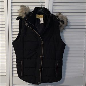 Prince & Fox Puffer Vest with Hood